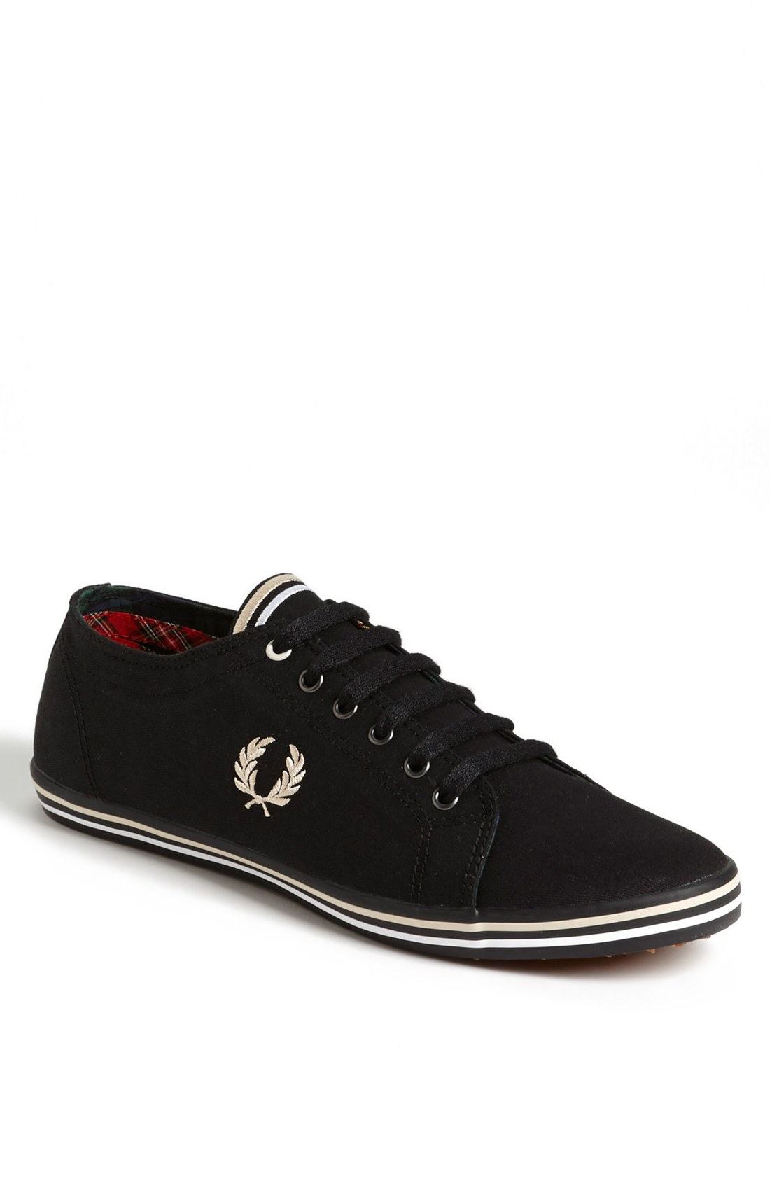 fred perry kingston sneaker in black for men lyst. Black Bedroom Furniture Sets. Home Design Ideas