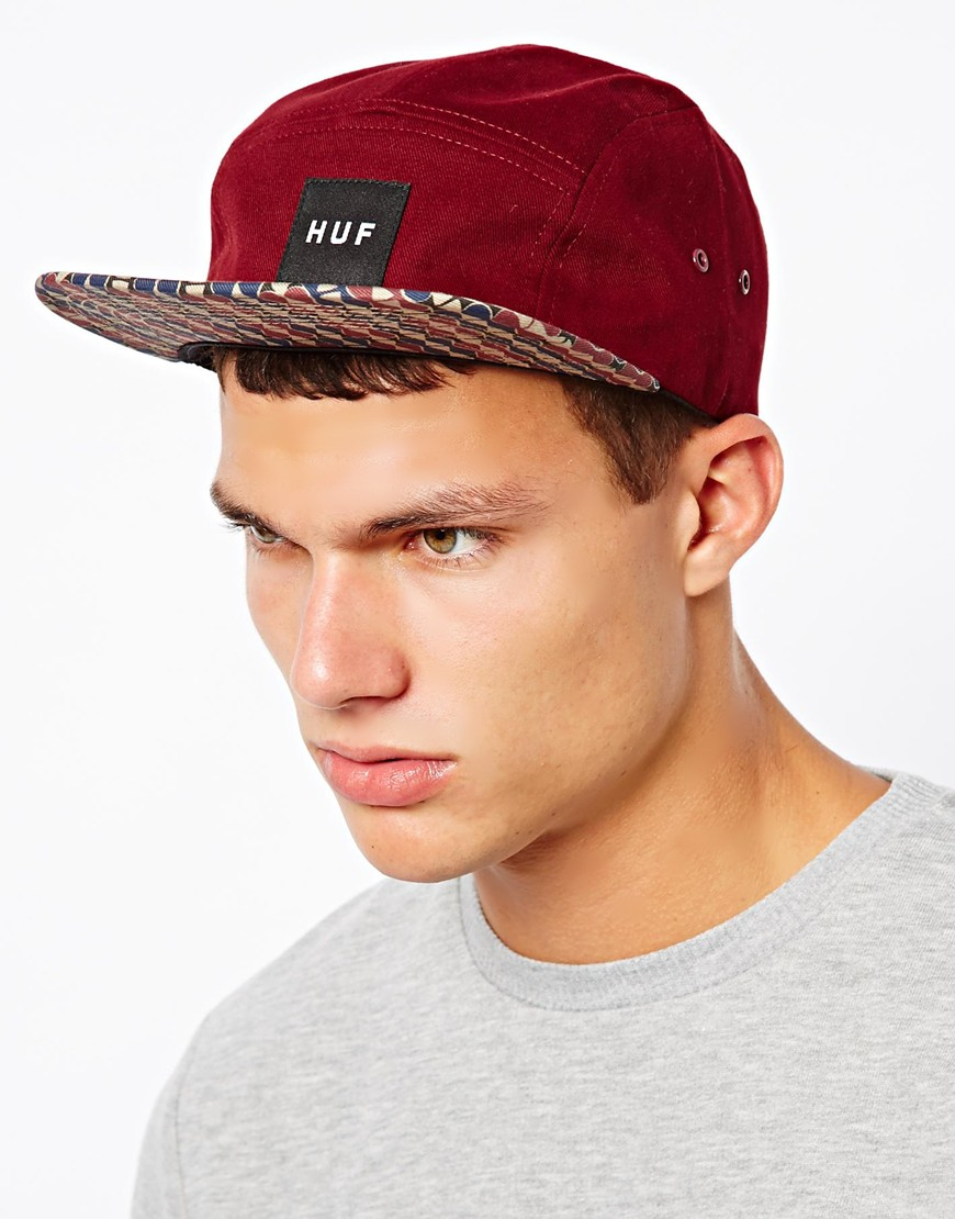 cd0e77acd7ddb Huf Century Pattern 5 Panel Cap in Red for Men - Lyst