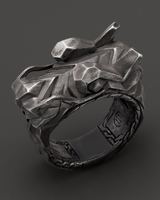 John Hardy Men S Naga Sterling Silver Dragon Head Ring In
