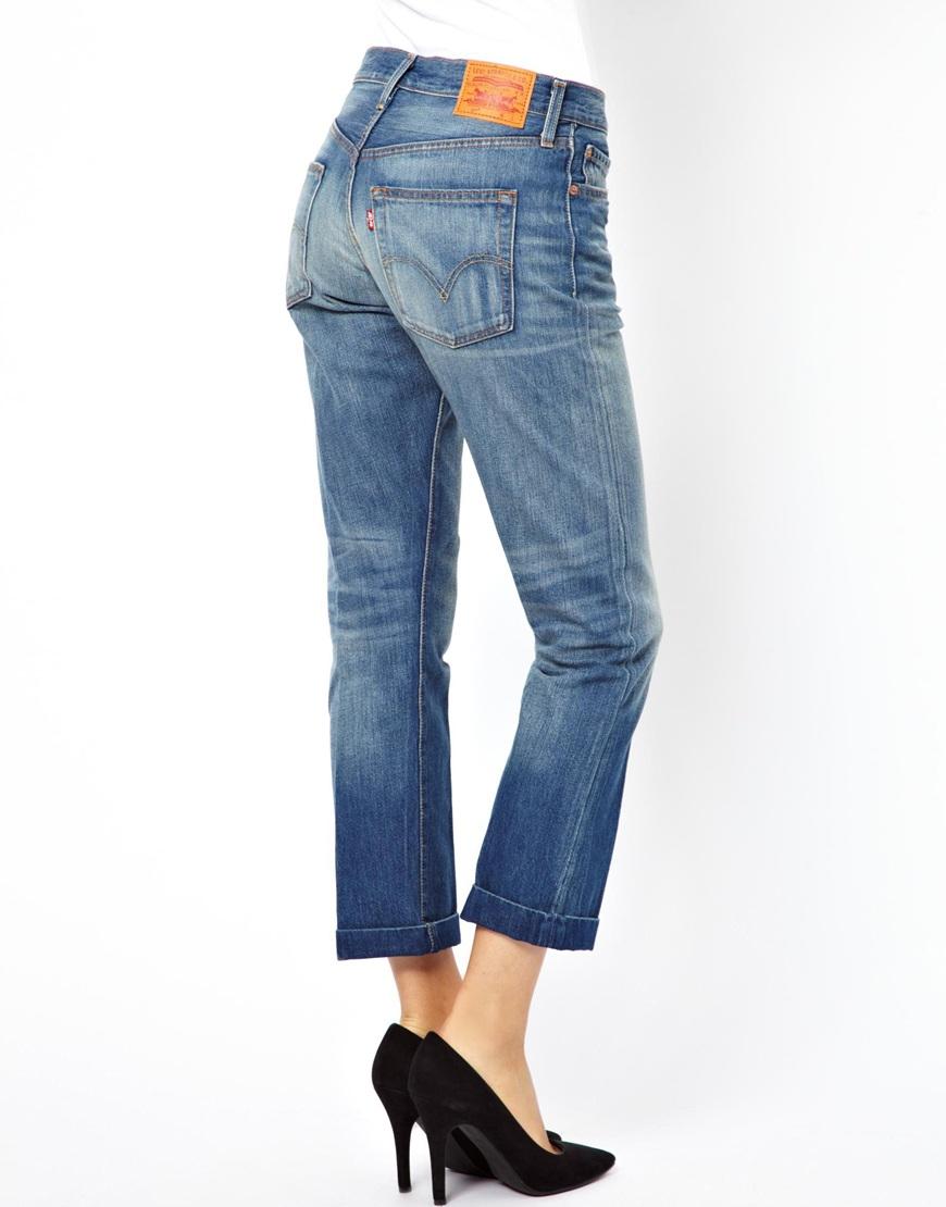 Lyst Denham Levis 501 Boyfriend Jeans In Blue
