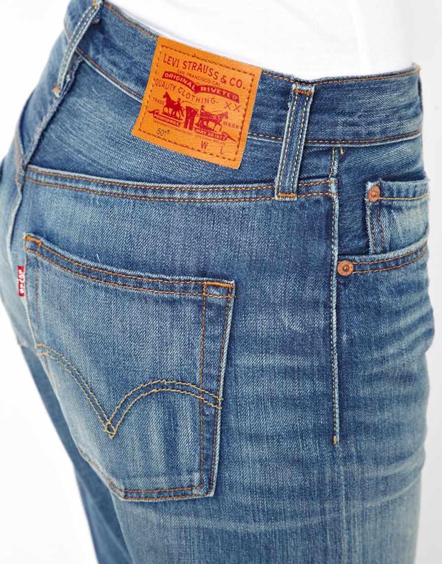Denham Levis 501 Boyfriend Jeans In Blue Lyst