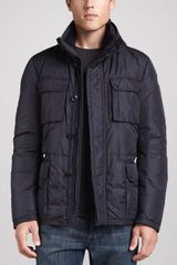 Moncler Amazzone Down Field Jacket Navy - Lyst