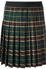 P.a.r.o.s.h. Pleated Tartan Skirt - Lyst
