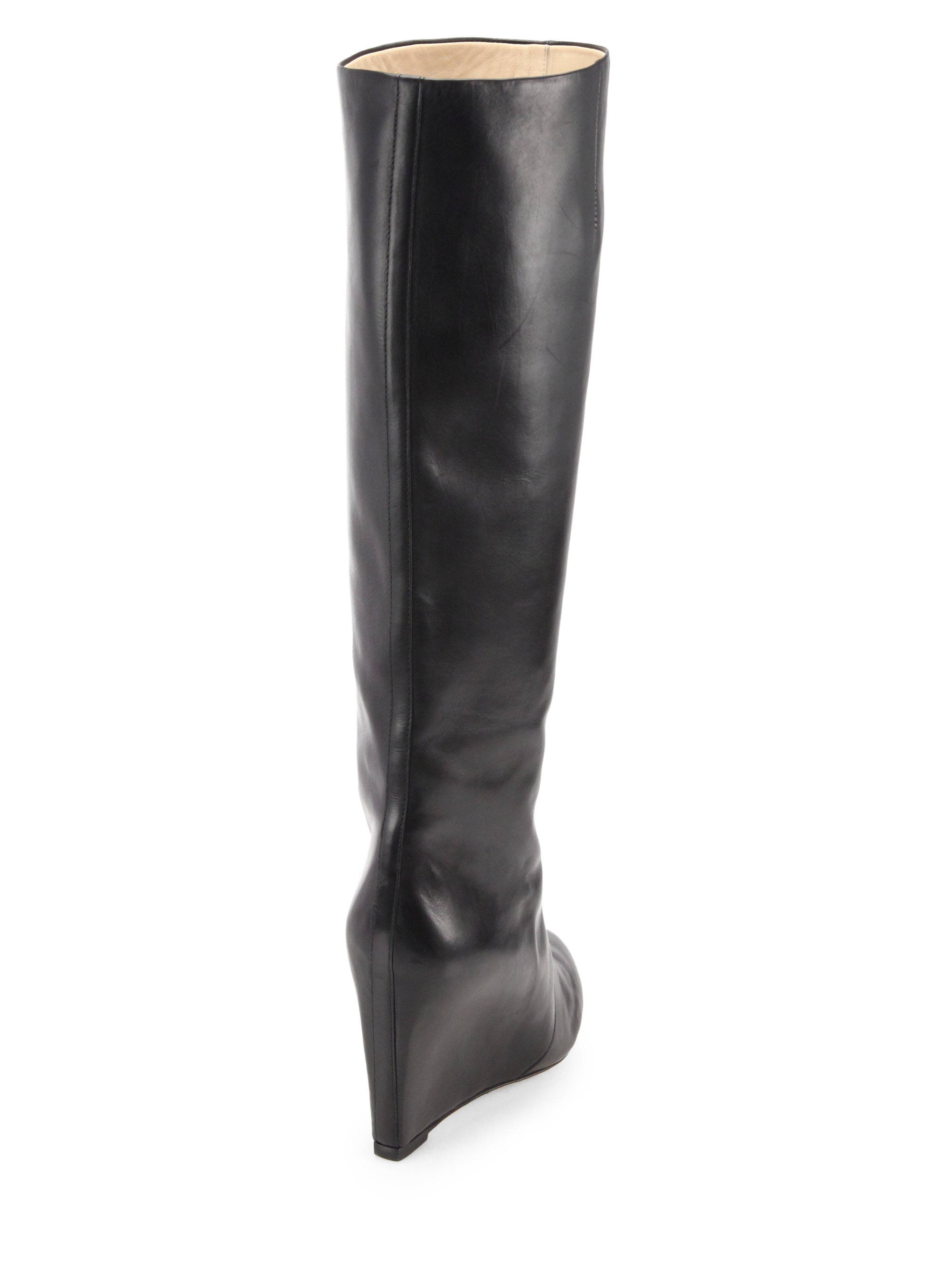 B Brian Atwood Jewel-Embellished Knee-High Boots