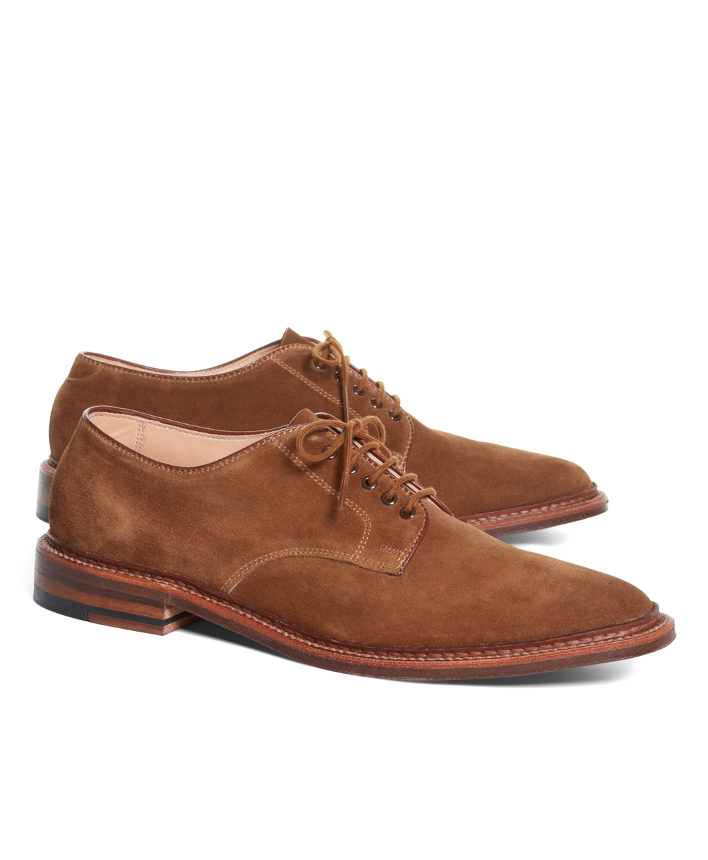 Lyst Brooks Brothers Suede Oxford Bluchers In Brown For Men