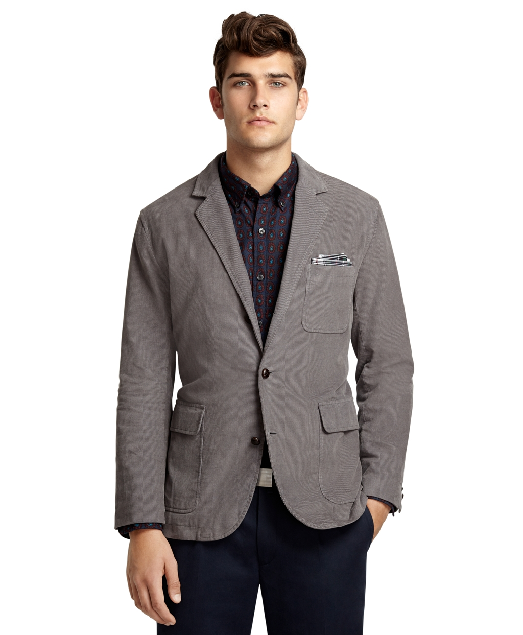 Brooks brothers Corduroy Sack Coat in Gray for Men (Grey ...