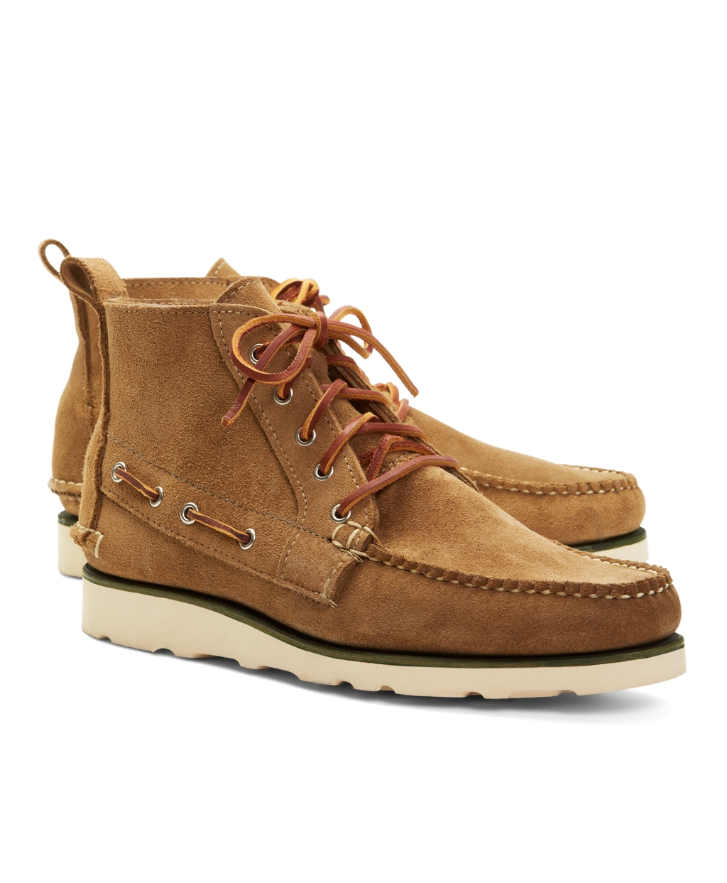 brothers suede boat boots in brown for lyst