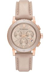 Burberry Womens Swiss Chronograph Nude Leather Strap 38mm - Lyst