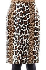Burberry Prorsum Animalprint Ponyhair Pencil Skirt - Lyst