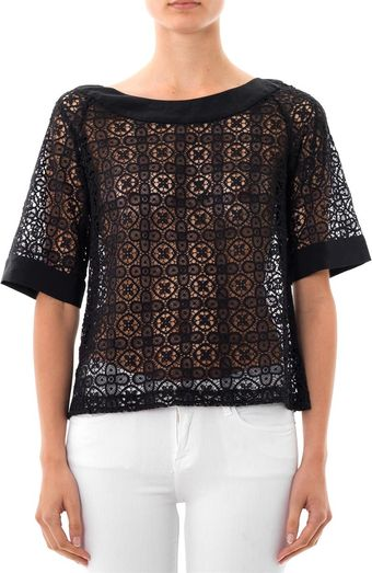 Collette By Collette Dinnigan Grenada Lace Top - Lyst