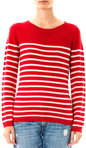 Collette By Collette Dinnigan Stripe Knit Sweater - Lyst