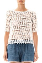 Collette By Collette Dinnigan Daisy Chain Lace Top - Lyst