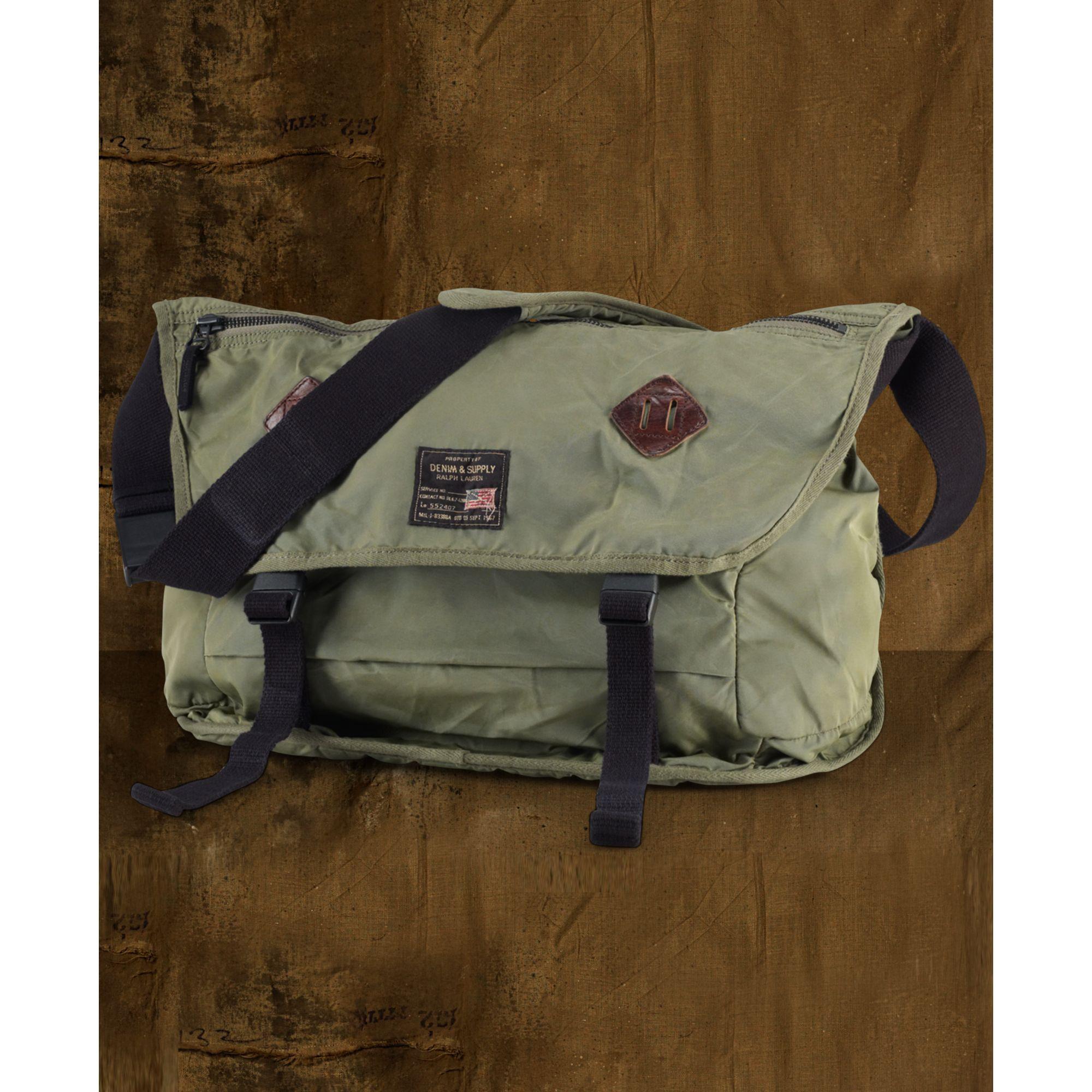 b13104c38a16 Lyst - Denim   Supply Ralph Lauren Nylon Messenger Bag in Green for Men