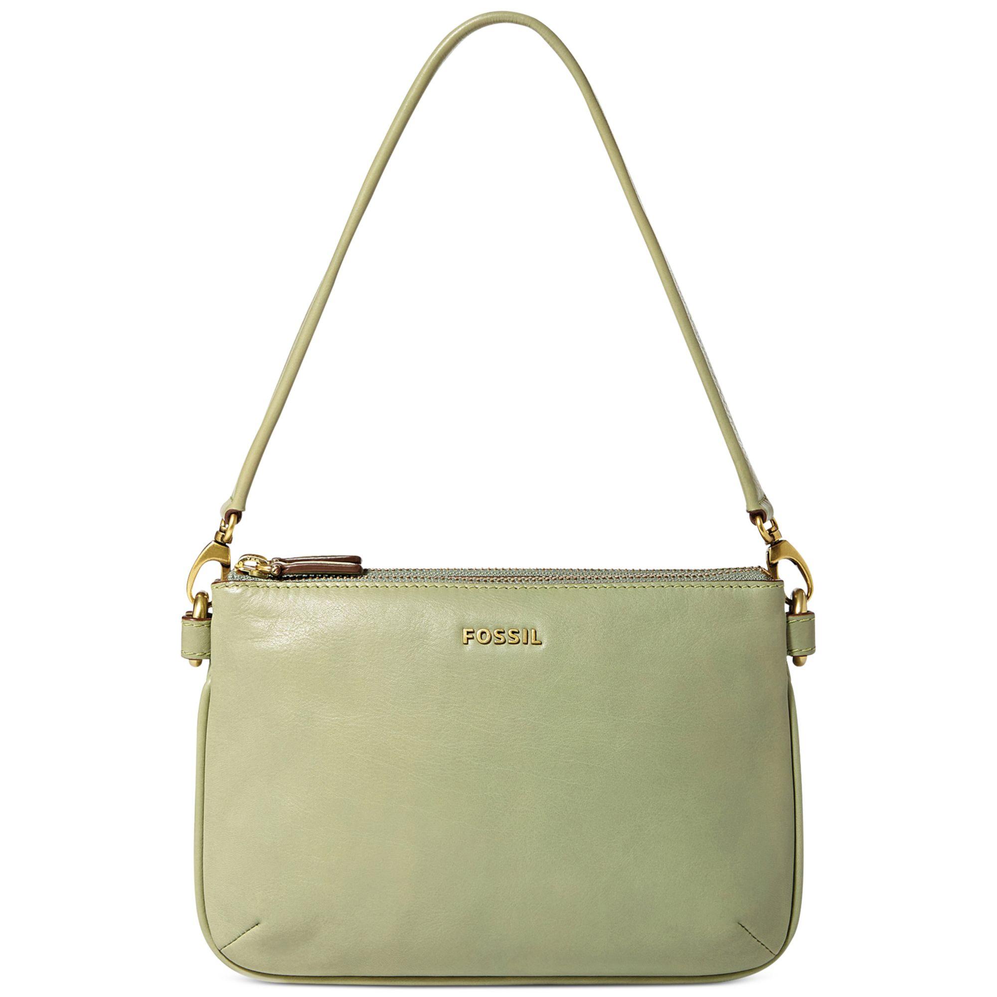 Fossil Memoir Pocketbook Top Zip Shoulder Bag in Green | Lyst