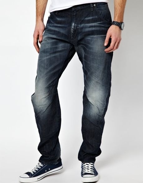g star raw g star jeans arc 3d loose tapered dark aged in. Black Bedroom Furniture Sets. Home Design Ideas