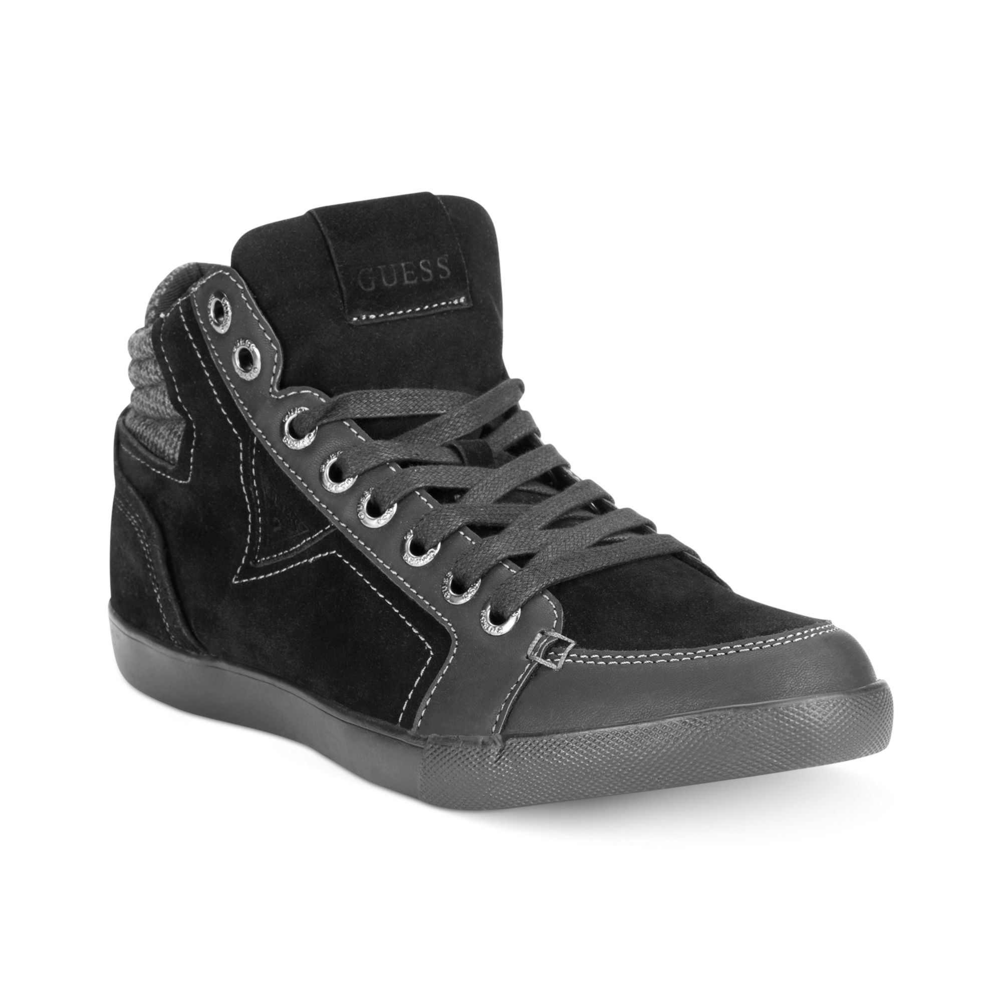 Guess Mens Shoes Jaque Sneakers in Black for Men | Lyst