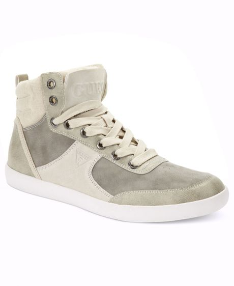 Guess Mens Shoes Jefferson Hi-top Sneakers in Gray for Men (Ice