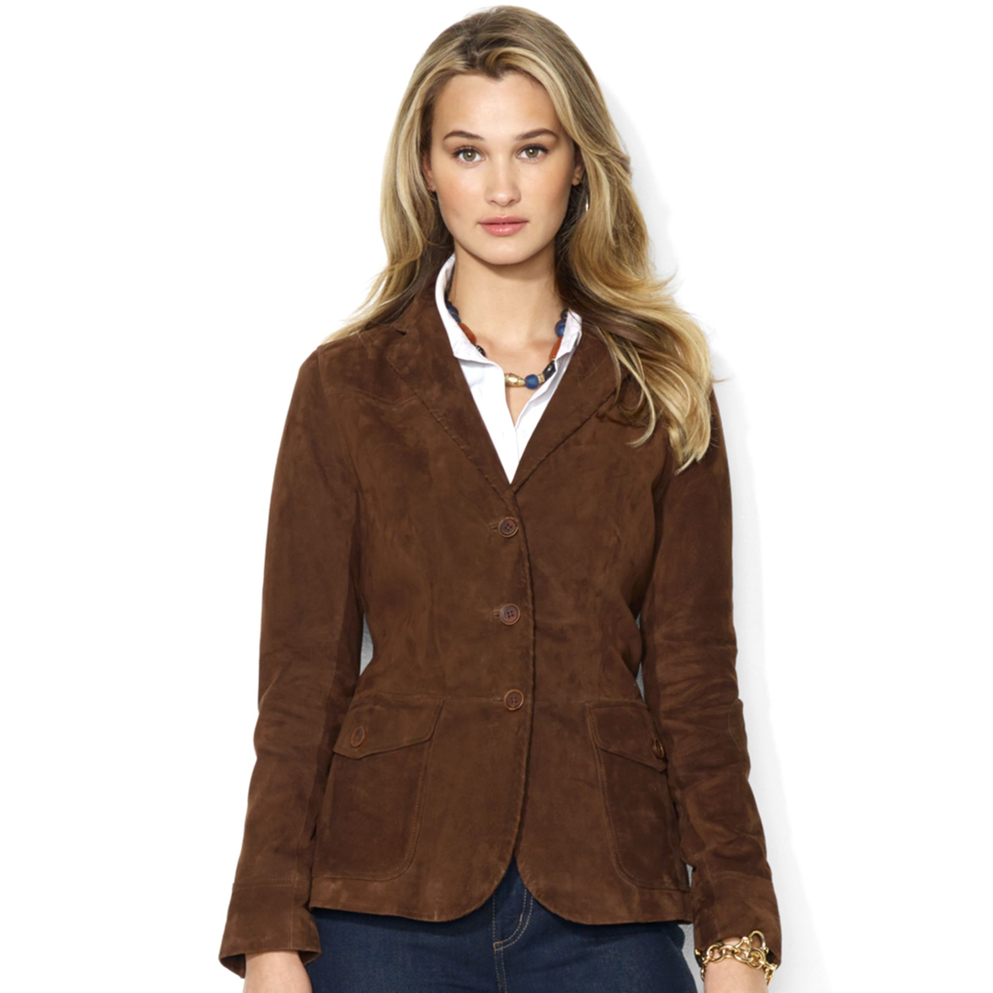 Lauren by ralph lauren Lauren Jeans Co Jacket Suede Blazer in ...