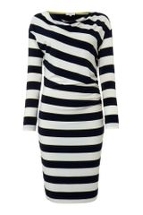 Linea Weekend Ladies Cowl Neck Stripe Jersey Dress - Lyst