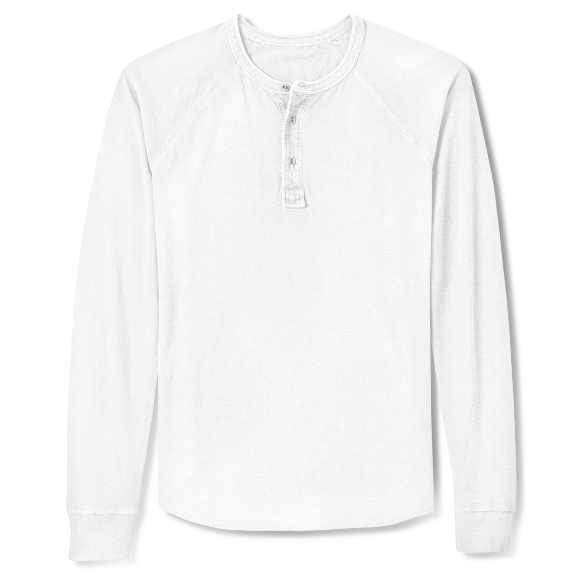 07e589235 Lucky Brand Duofold Henley Long Sleeve Shirt in White for Men - Lyst