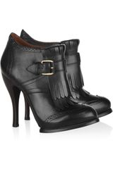 McQ by Alexander McQueen Fringed Leather Ankle Boots - Lyst