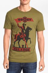 Obey New World Order Tshirt - Lyst