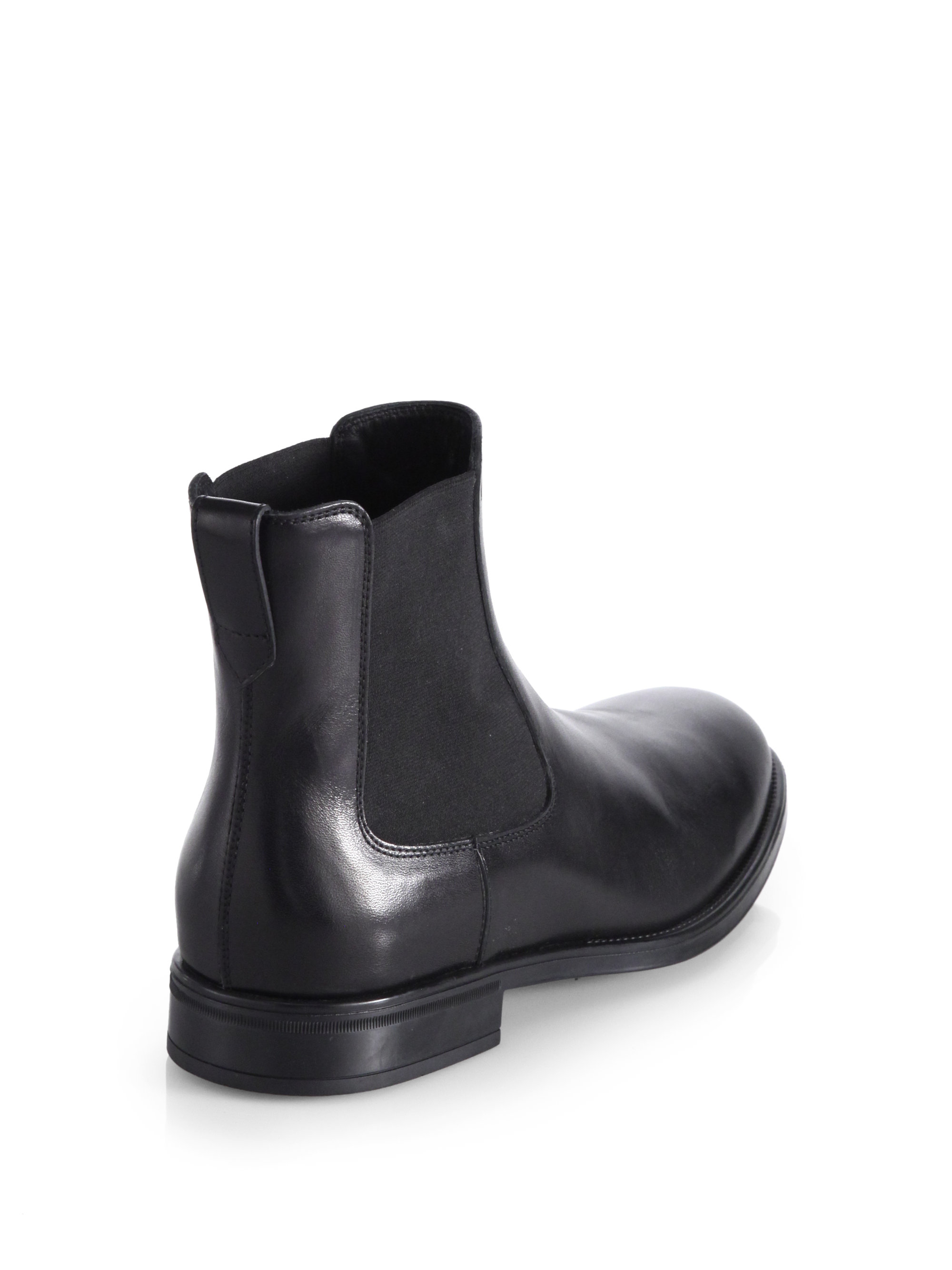 Tod's Leather Chelsea Boots in Black for Men | Lyst