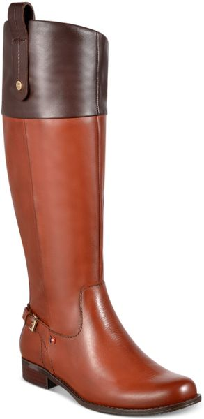 Tommy Hilfiger Hamden Tall Riding Boots in Brown (Cognanc/Brown) - Lyst