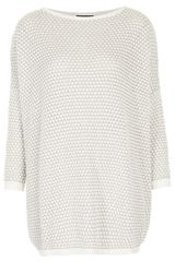 Topshop Knitted Tulip Stitch Jumper - Lyst