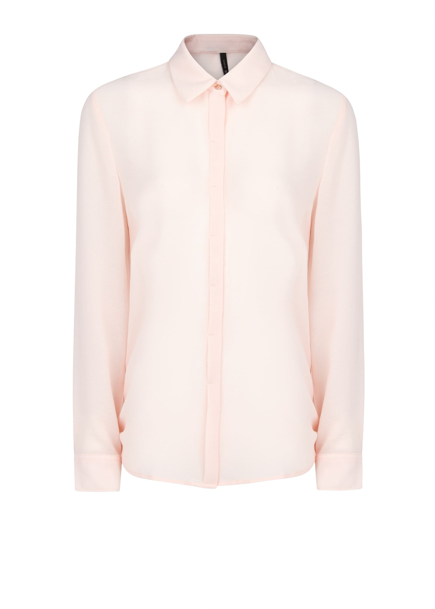 Mango Long Sleeve Flowy Shirt in Pink | Lyst