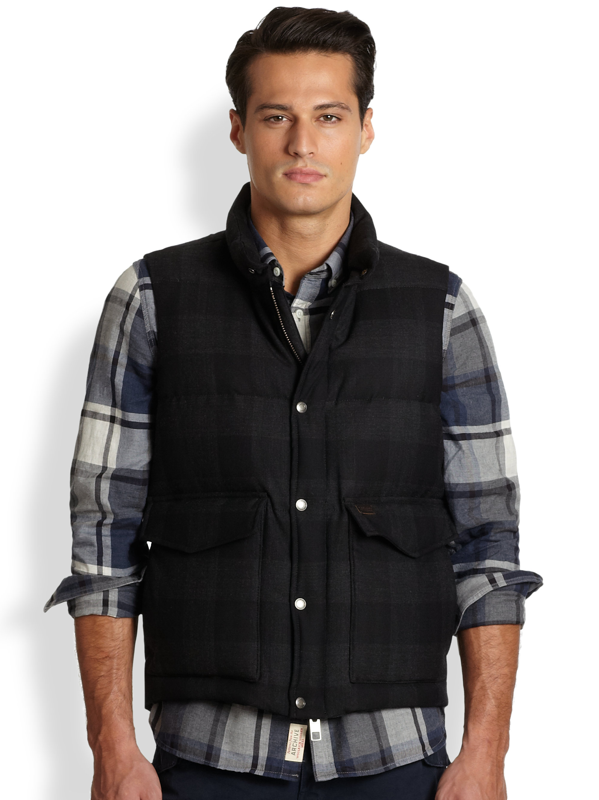 Lyst Woolrich Wool Aleutian Vest In Black For Men