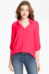 Pleione Mixed Media Shirt - Lyst