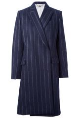 Stella McCartney Oversized Pinstripe Coat - Lyst