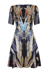 Temperley London Feather Print Dress - Lyst