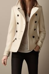 Burberry Wool Cashmere Pea Coat - Lyst
