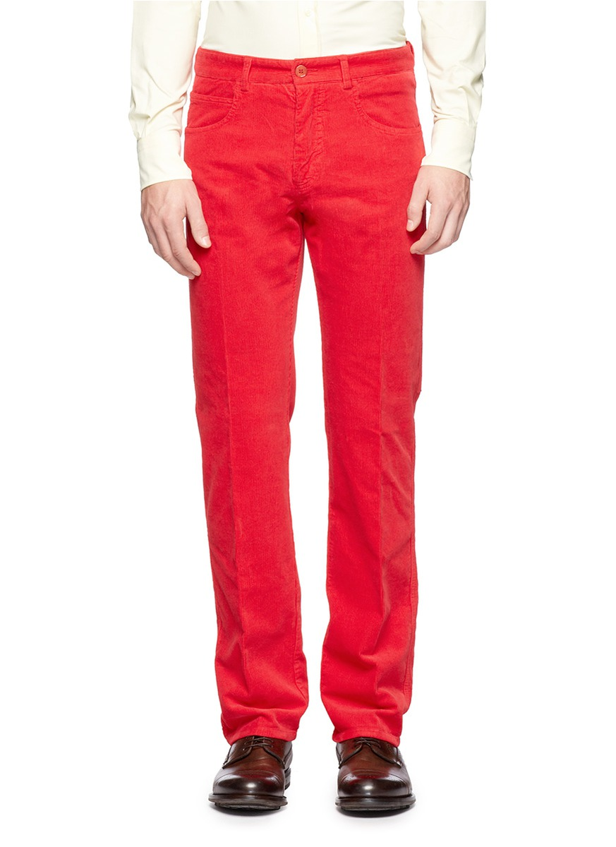 Lyst Carven Corduroy Pants In Red For Men