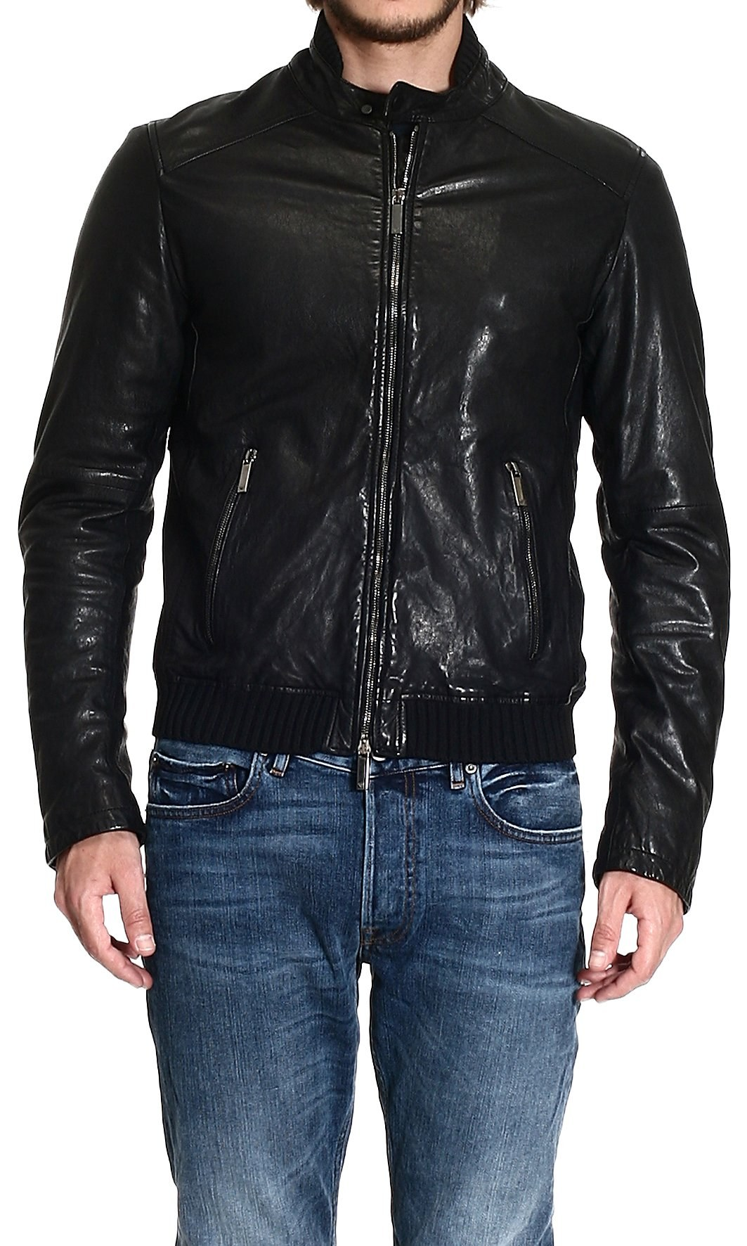 Giorgio armani leather jackets