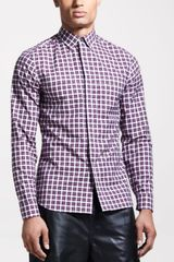 Givenchy Slim Check Sport Shirt - Lyst