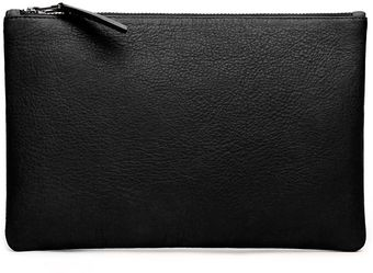 Graham & Spencer Leather Zip Clutch - Lyst