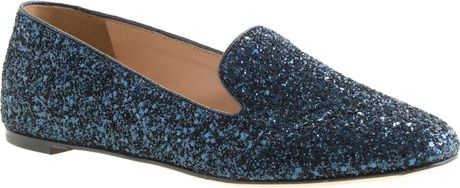 J.crew Darby Glitter Loafers in Blue (glitter navy)