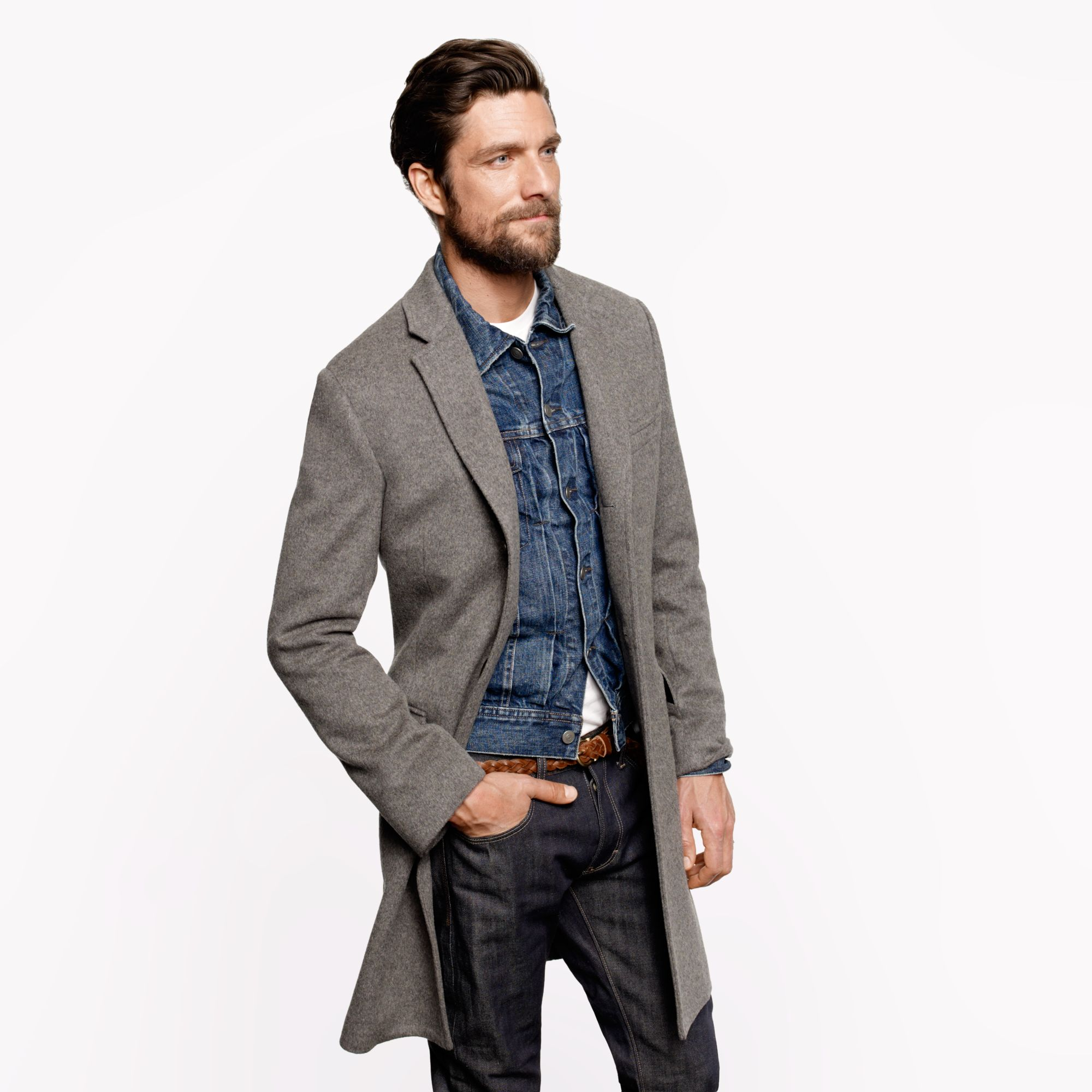 Ludlow topcoat in wool cashmere with thinsulate in for J crew mens outfits