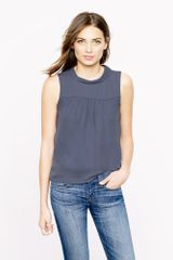 J.Crew Silk Draped Collar Top - Lyst