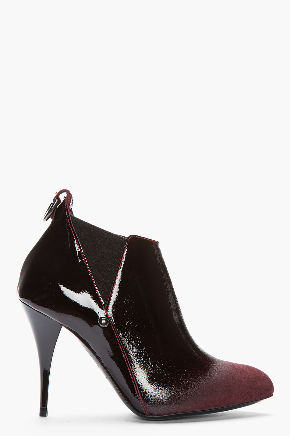 mcq by mcqueen burgundy patent leather ombre
