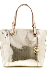 Michael by Michael Kors Jet Set Signature Monogram Tote - Lyst
