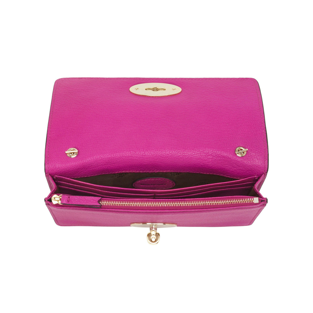71d30777caf ... shop lyst mulberry bayswater clutch wallet in pink 008e8 2090b