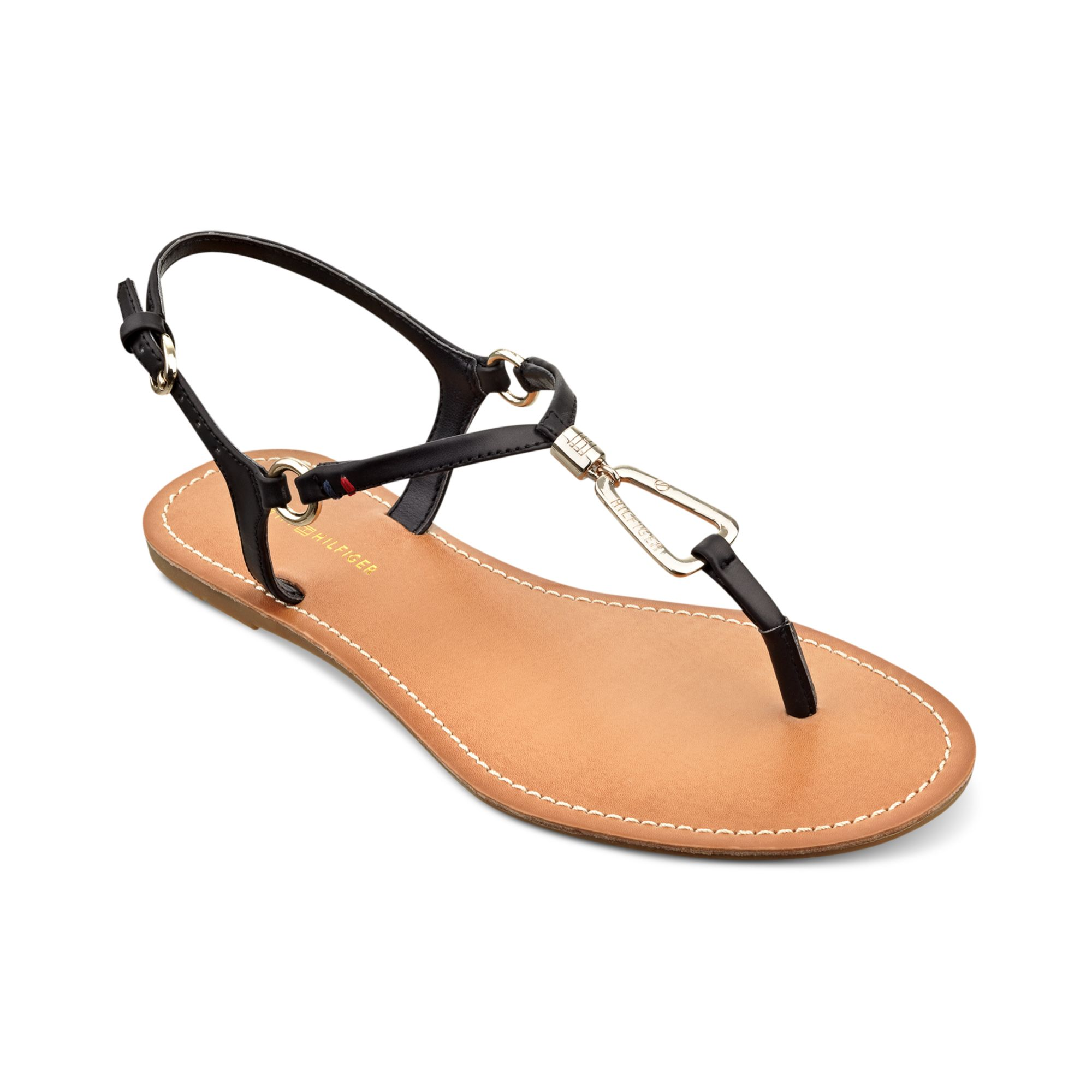 Thong Lyst Tommy Black Sandals Leuca Hilfiger in mnwNv0O8