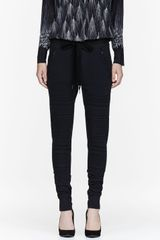 3.1 Phillip Lim Black French Terry Trapunto Panel Lounge Pants - Lyst
