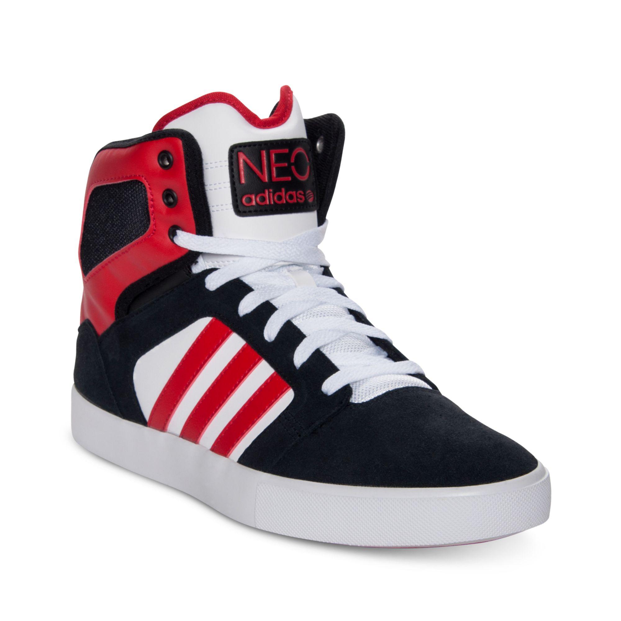 Lyst adidas bbneo classico casual scarpe in rosso per gli uomini.