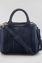 Alexander Wang Rockie Small Crossbody Satchel Bag Navy - Lyst