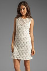 Anna Sui Runway Lace with Diamond Beading Tank Dress in Cream - Lyst